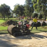 Laying turf the easy way